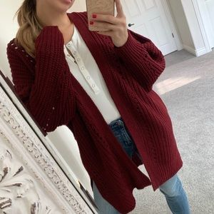 NWT! Chilly Knit Cardigan Sweater / Small